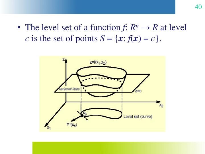 The level set of a function