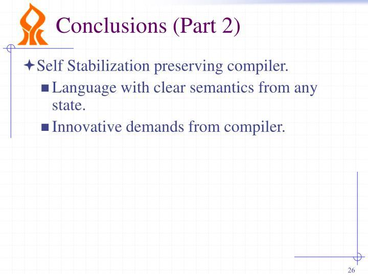 Conclusions (Part 2)