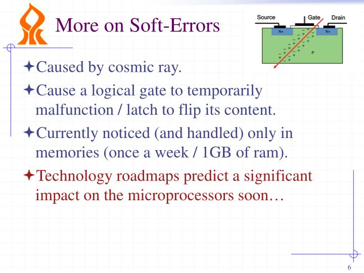 More on Soft-Errors