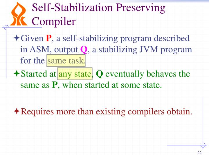 Self-Stabilization Preserving Compiler