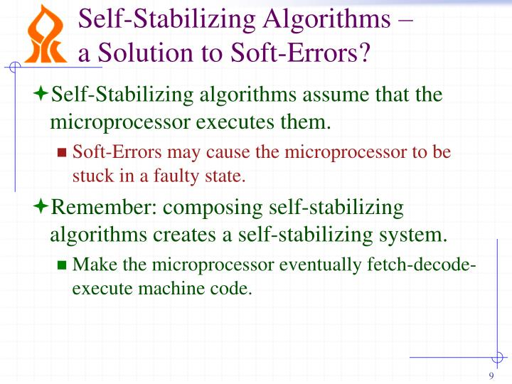 Self-Stabilizing Algorithms –