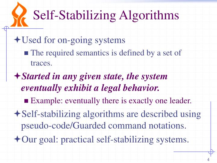 Self-Stabilizing Algorithms