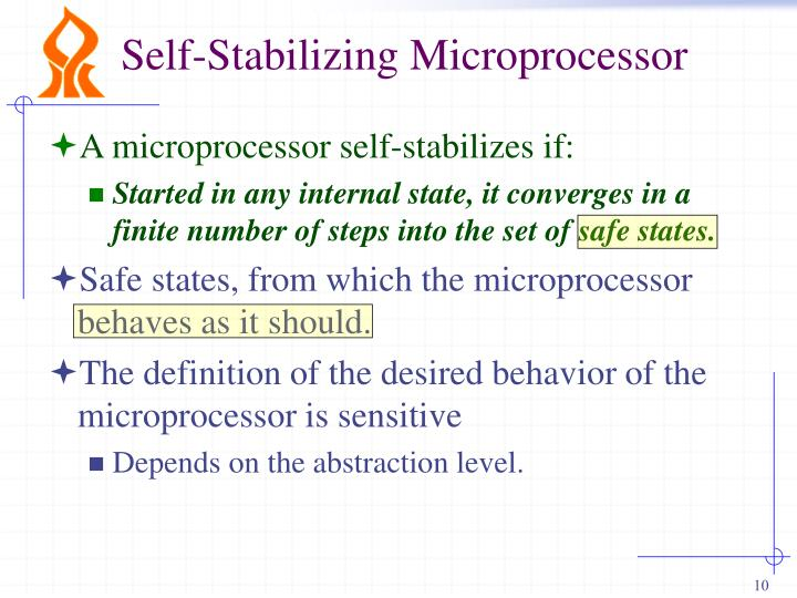 Self-Stabilizing Microprocessor