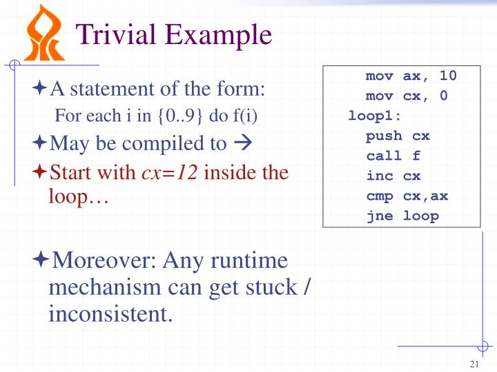 Trivial Example
