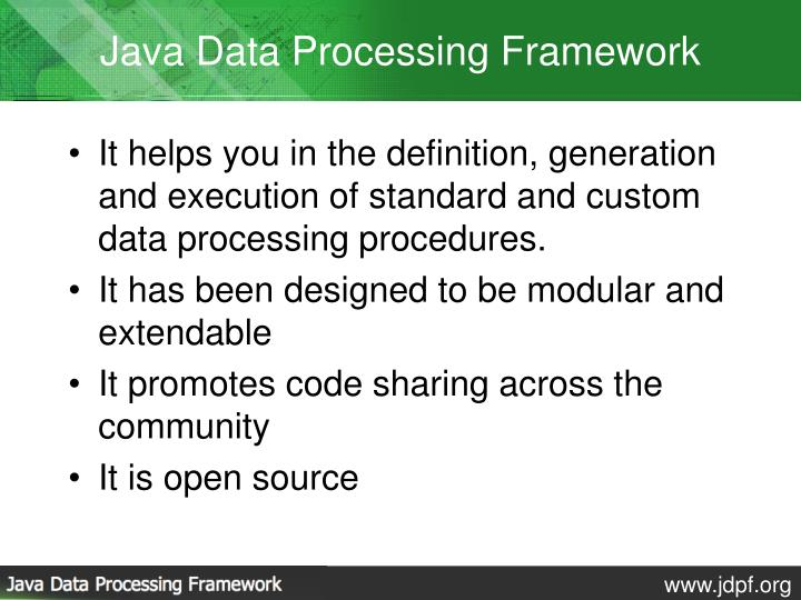 Java Data Processing Framework