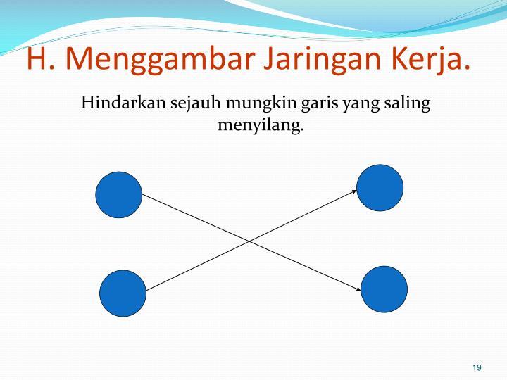 H. Menggambar Jaringan Kerja.