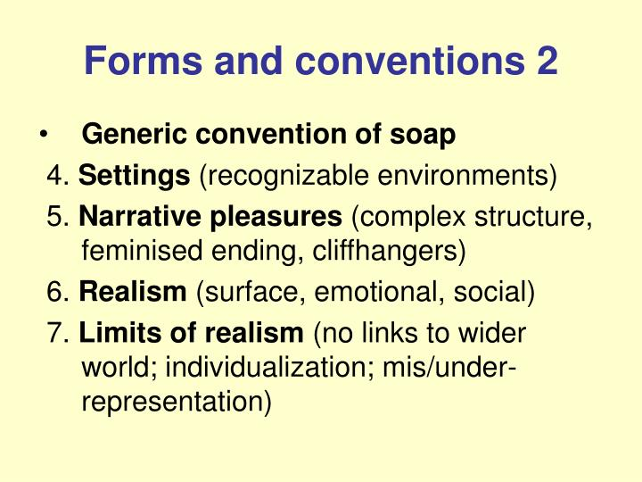 Forms and conventions 2