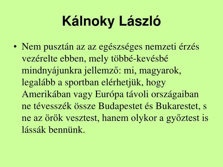 Klnoky Lszl
