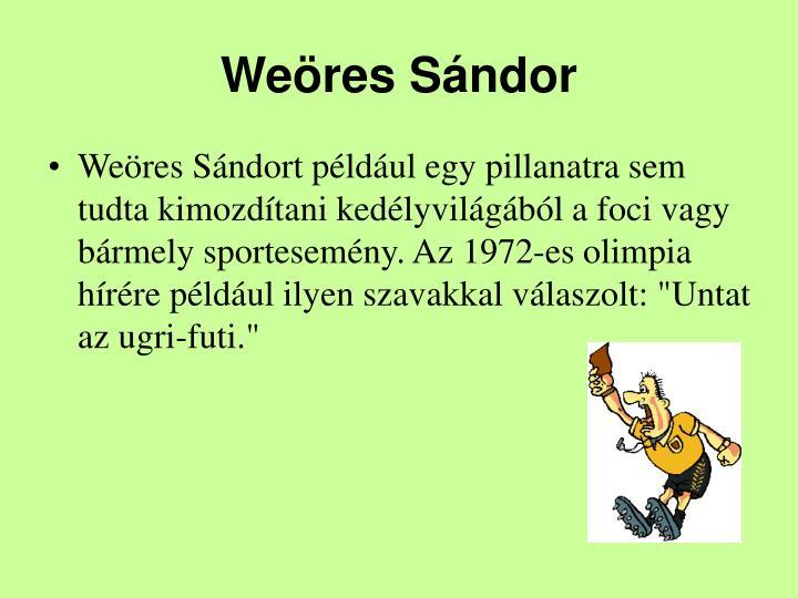 Weres Sndor