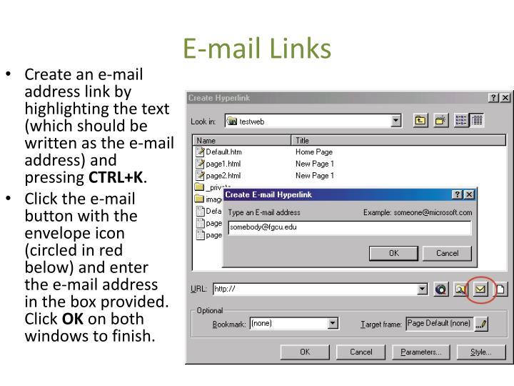 E-mail Links