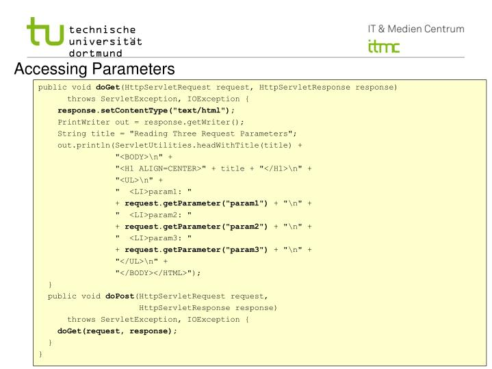 Accessing Parameters
