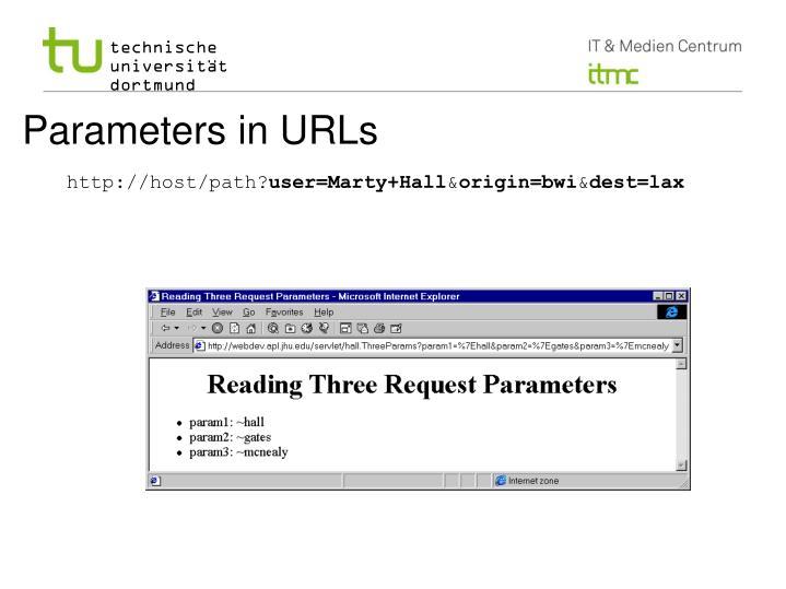 Parameters in URLs