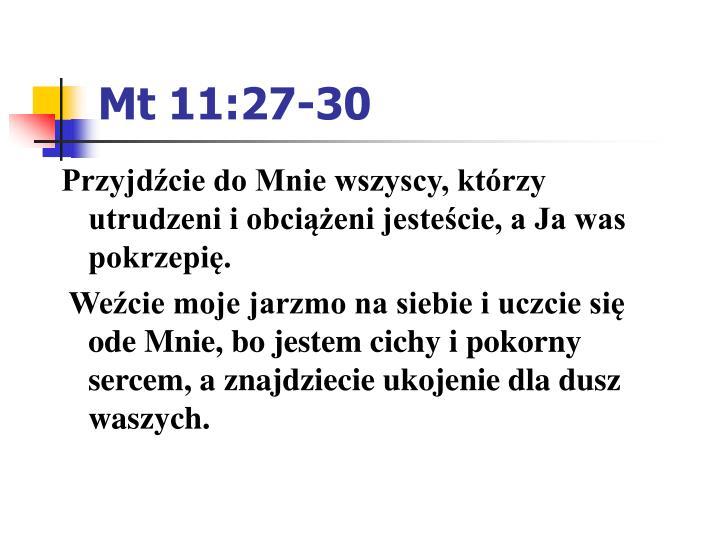 Mt 11:27-30