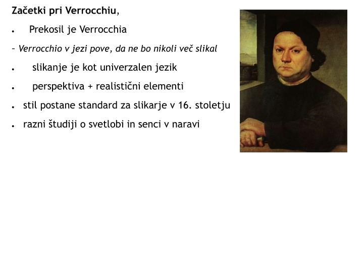 Začetki pri Verrocchiu