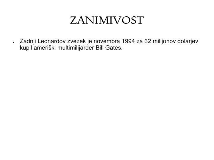 ZANIMIVOST