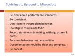 guidelines to respond to misconduct