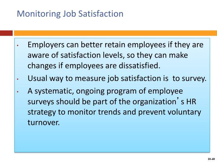 Monitoring Job Satisfaction