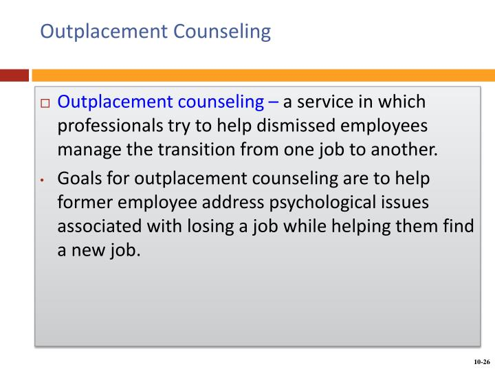 Outplacement Counseling
