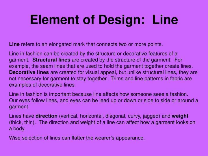 Element of Design:  Line