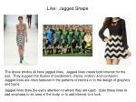 line jagged shape