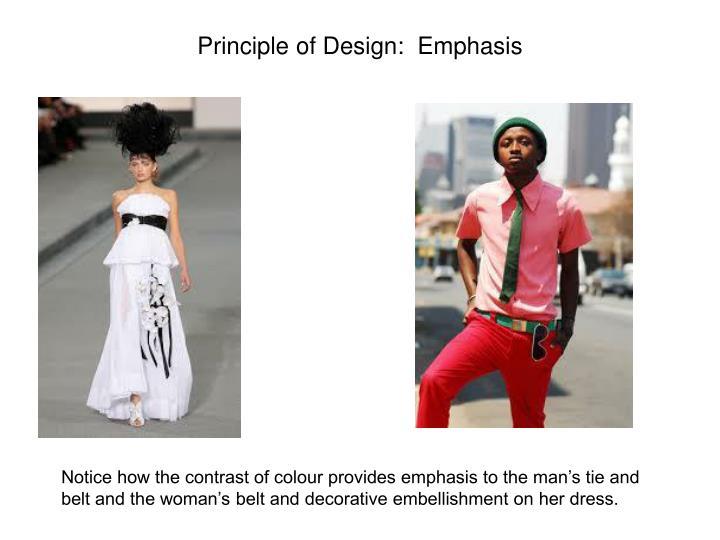 Principle of Design:  Emphasis