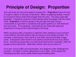 principle of design proportion