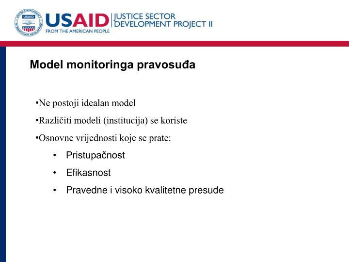 Model monitoringa pravosuđa