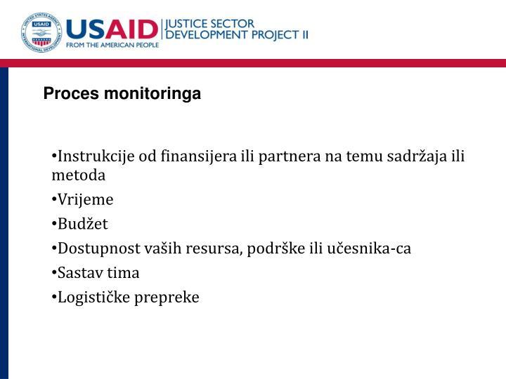Proces monitoringa