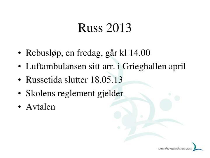 Russ 2013