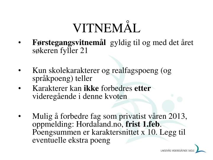VITNEMÅL
