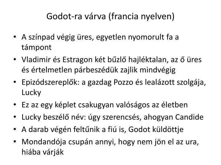 Godot-ra várva (francia nyelven)