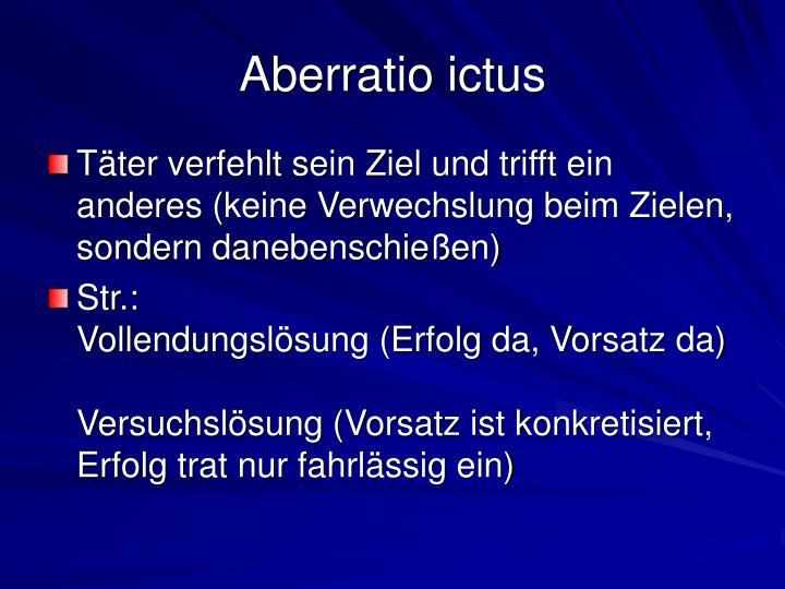 Aberratio ictus