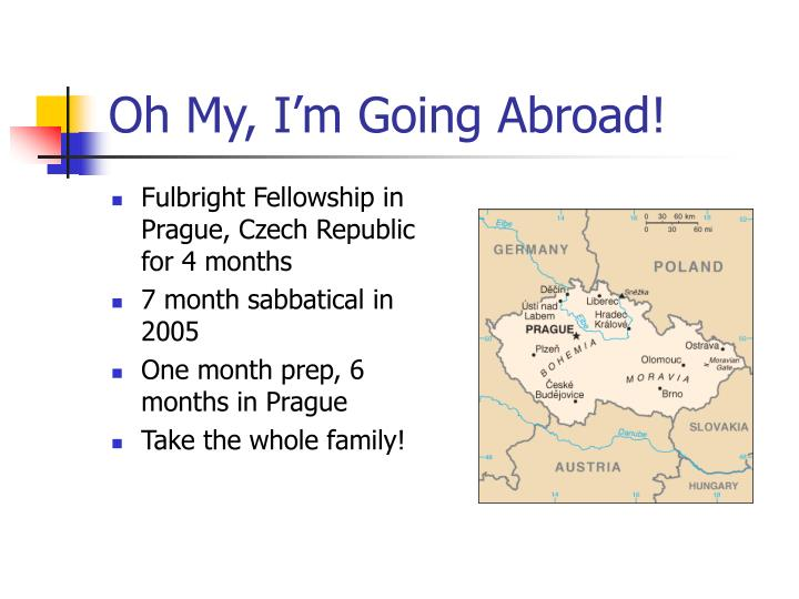 Oh My, I'm Going Abroad!