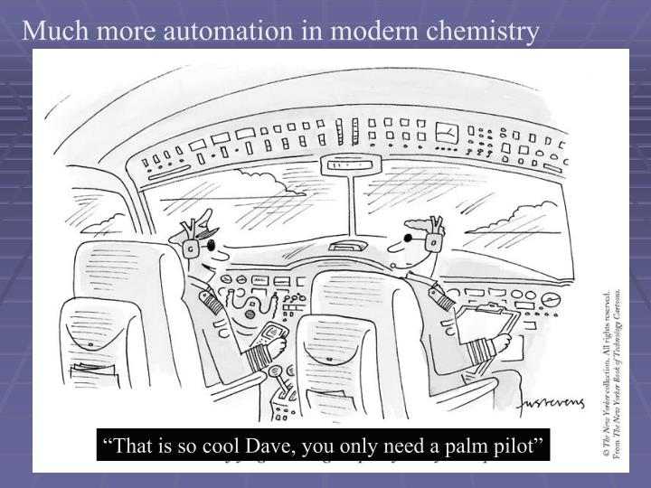 Much more automation in modern chemistry