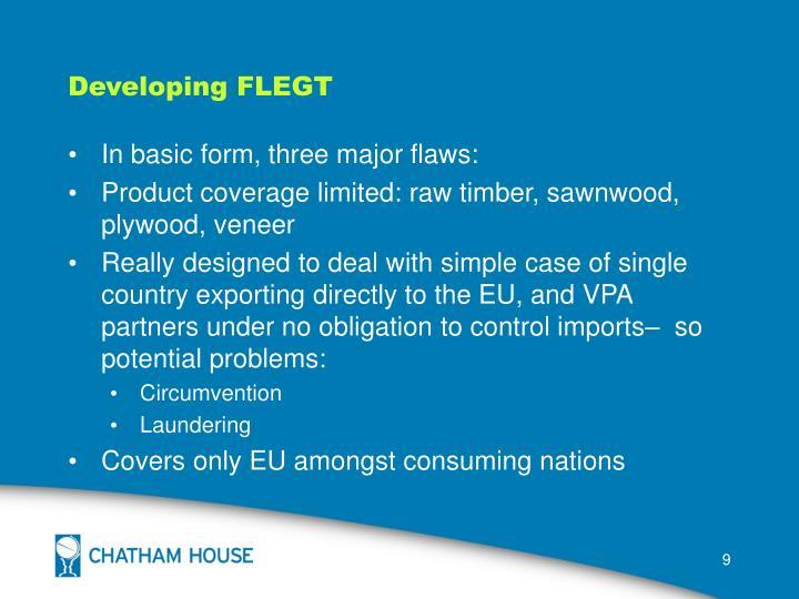 Developing FLEGT