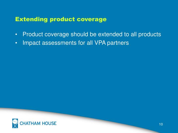 Extending product coverage
