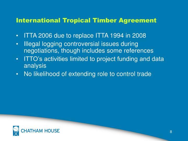 International Tropical Timber Agreement