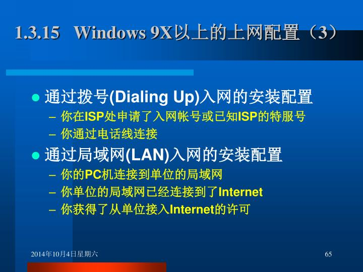 1.3.15   Windows 9X