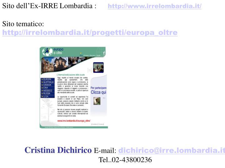 Sito dell'Ex-IRRE Lombardia :