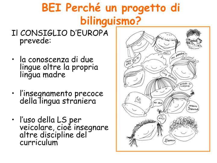 BEI Perché un progetto di bilinguismo?