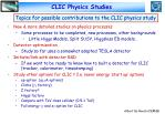 clic physics studies