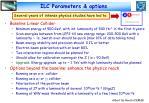 ilc parameters options