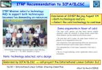 itrp recommendation to icfa ilcsc1
