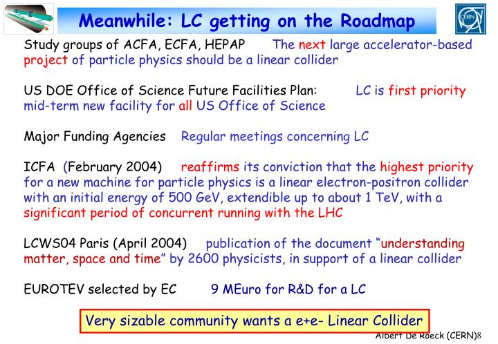 Meanwhile: LC getting on the Roadmap