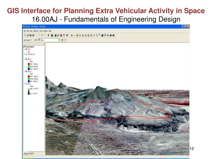 GIS Interface for Planning Extra Vehicular Activity in Space