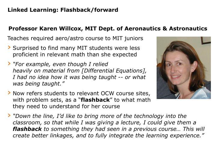 Linked Learning: Flashback/forward