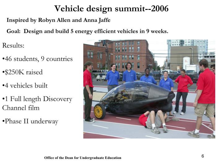 Vehicle design summit--2006