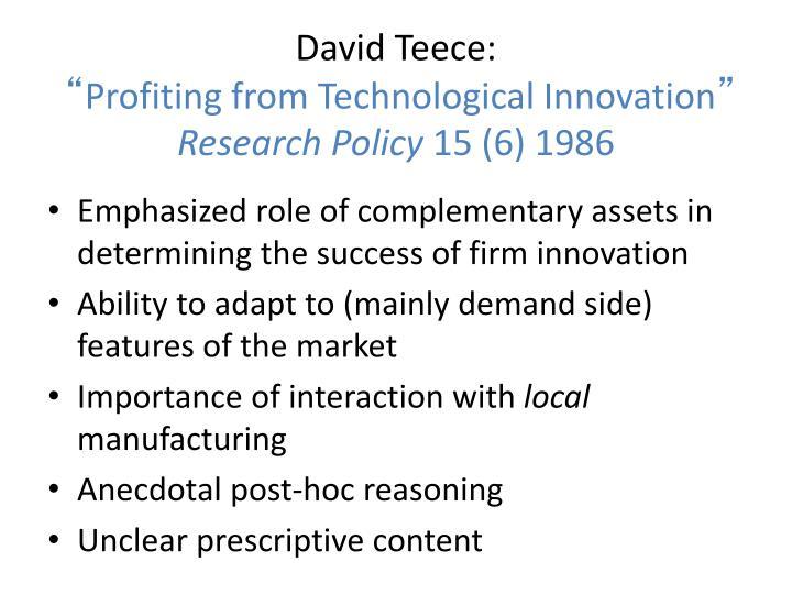 David Teece: