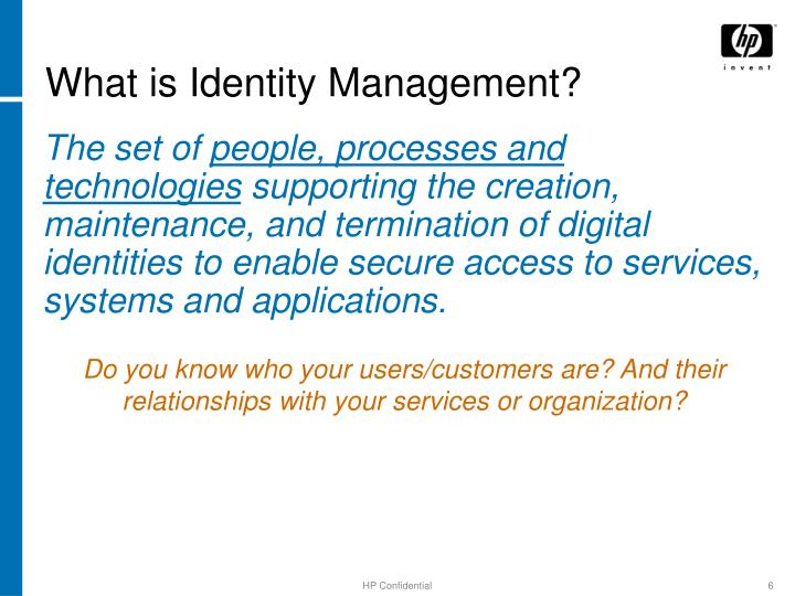 What is Identity Management?