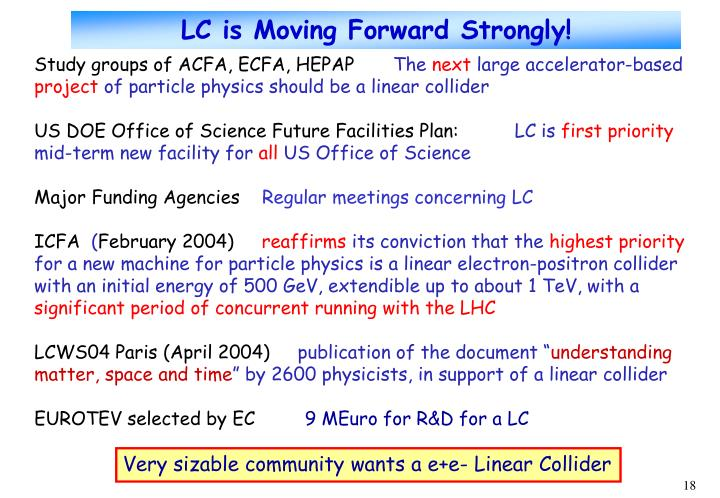 LC is Moving Forward Strongly!